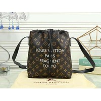 LV Louis Vuitton Women Casual School Bag Cowhide Leather Backpack Brown I-LLBPFSH
