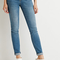 Life In Progress Low-Rise Skinny Jeans