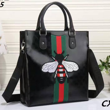 GUCCI BEE Women Shopping Leather Tote Crossbody Satchel Shoulder Bag H-LLBPFSH