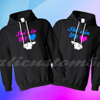 2 best friend BFF hoodies