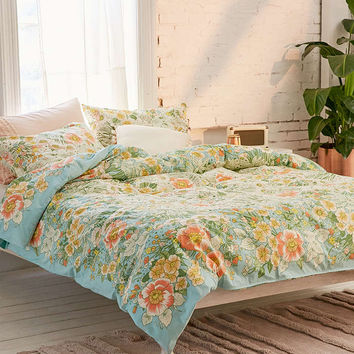 Lovise Floral Scarf Duvet Cover - Urban Outfitters