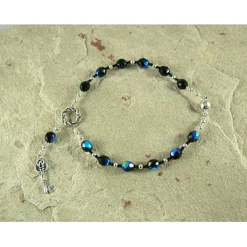 Hekate (Hecate) Travel Prayer Beads: Greek Goddess of Magic and Witchcraft, Protector of Home and Family