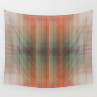 Abstract pattern pink and grey Wall Tapestry by Anna Lemos