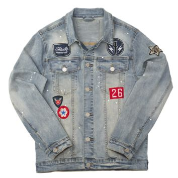 MULTI PATCH DENIM JACKET