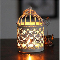 Classic Moroccan Metal Hanging Lanterns Candle Stands Hollow Candle Holder