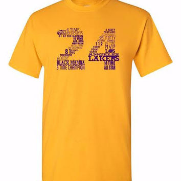 "Lakers ""Kobe Bryant 24"" Shirt - Gold"