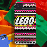 Drawclub IPhone Case - Lego aztec pattern