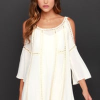 Do-Over Cream Crochet Dress