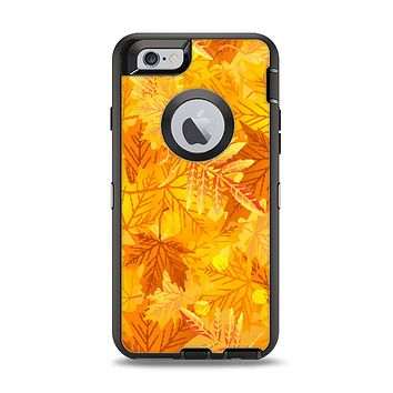 The Abstract Fall Leaves Apple iPhone 6 Otterbox Defender Case Skin Set