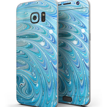 Mixed Blue Oil - Full Body Skin-Kit for the Samsung Galaxy S7 or S7 Edge