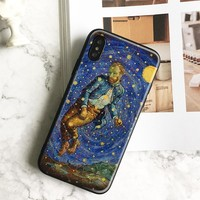 Van gogh Trippy funny art coque TPU soft silicone Phone Case cover Shell For Apple iPhone 5 5s Se 6 6s 7 8 Plus X XR XS MAX