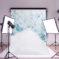 7X5FT  Silk Backdrop Snow Photography Photo Prop Studio CP Background