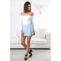 Dance With The Waves Skirt (Pale Blue)