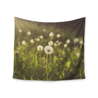 "Libertad Leal ""As You Wish"" Dandelions Wall Tapestry"