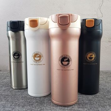 Hot Quality Double Wall Stainless Steel Vacuum Flasks 500ml 350ml Car Thermo Cup Coffee Tea Travel Mug Thermol Bottle Thermocup