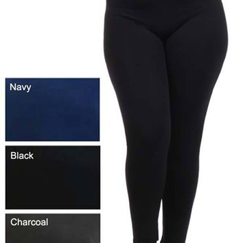 Plus Size Seamless Leggings - 5 Colors