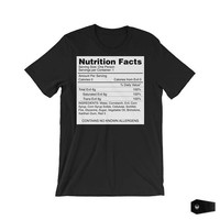 nu goth, pastel goth, evil, gothic tshirts, nutrition facts, 100 percent evil, funny t-shirt, creepy, spooky, halloween, outsider apparel