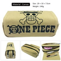 One Piece Skull Fairy Tail Game of Thrones Teddy Makeup Cosmetic Brush Travel Bag Case Pen Pencil Pouch Purse Wallet
