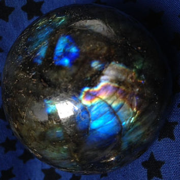 Labradorite Sphere, Purple Flash, Ancestor's Stone, Goddess Magic, Crystal Ball, Divination, Metaphysical Gemstones, Labrodite,Free Shipping