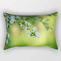 Floral frame Rectangular Pillow by tanjariedel