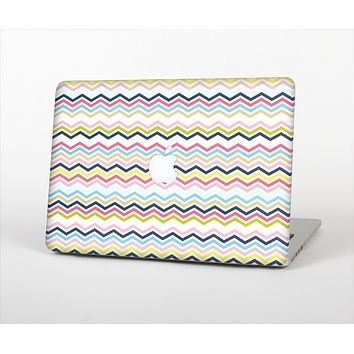 The Multi-Lined Chevron Color Pattern Skin Set for the Apple MacBook Pro 13""