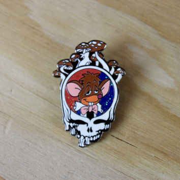Vintage GRATEFUL DEAD Enamel Pin | Steal Your Face | Vintage Enamel Pin | Magic Mushrooms | Band Merch | Music Pins | Vintage Pins [1136]