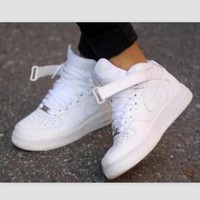 NIKE Women Men Running Sport Casual Shoes Sneakers high tops White