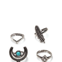 Howl At The Moon Ring Set