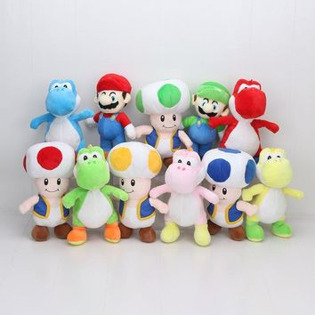 Super Mario party nes switch  Bros 10inch/25cm  Luigi Yoshi Mushroom 11styles for Choose Plush Doll Toys AT_80_8