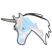 Blue Holographic Unicorn Clutch Bag