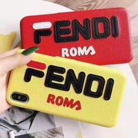 FENDI Leather iPhone Phone Cover Case For iphone 6 6s 6plus 6s-plus 7 7plus 8 8plus iPhone 11 iPhone X XR XS XS MAX PRO MAX
