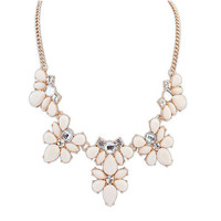 Fashion Women's Crystal Flower Chunky Statement Bib Pendant Chain Choker Necklace necklaces & pendants Jason0537