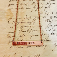 Hamilton Broadway My Shot Rise Up Lyrics Bar Necklace