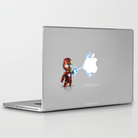 Ironman...damn apple! it's too hard to destroy!!!! Laptop & iPad Skin by Emiliano Morciano (Ateyo) | Society6