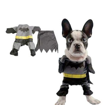 Batman Dark Knight gift Christmas New Cute Pet Cat Dog Batman Costume Suit Puppy Clothes Superhero Outfit Apparel Clothing for Small dogs Free Shipping 0212 AT_71_6