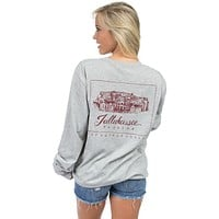 Florida State Long Sleeve Stadium Tee in Heather Grey by Lauren James