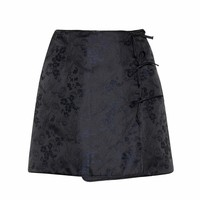 Mini Bow jacquard mini skirt