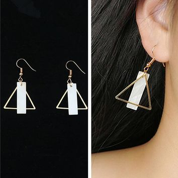 ES952 Drop Earrings For Women Triangle Natural Shell Dangle Earring Brincos Bijoux pendientes mujer