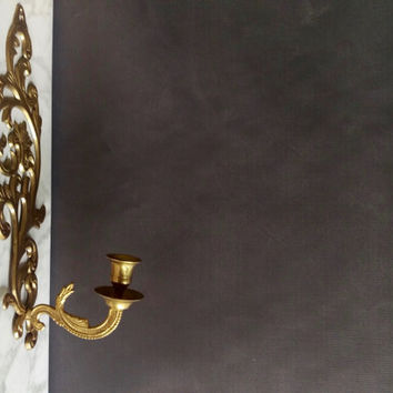 Brass Candle Wall Sconce/ Brass Sconce/ Vintage Wall Sconce/ Vintage Brass Wall Sconce