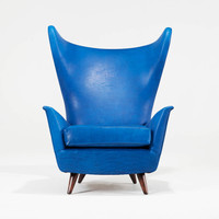 Midcentury Italian Wingback Chair