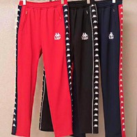 Kappa Fashion Women Casual Letter Embroidery Pants Trousers Sweatpants