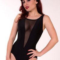 Scandalous Black 1 Piece Swimsuit (XS-XL)