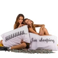 SHHHH...I'M SLEEPING Pillowcases - set of 2