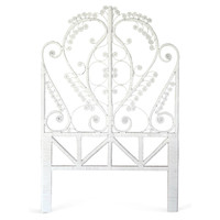 White Peacock Headboard, Twin, Headboards