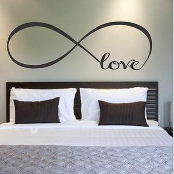 Muslim wall stickers Large Infinity Symbol Bedroom Wall Decal Love Bedroom living room Decor Quotes Wall Stickers home decor &