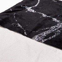 LEISURE SOCIETY Marble Sherpa Blanket | Pillows + Bedding