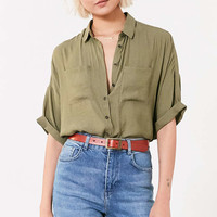 Silence + Noise Joey Button-Down Shirt - Urban Outfitters
