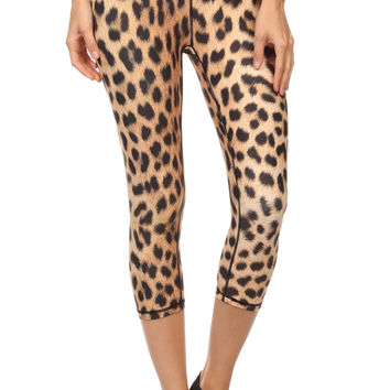 Leopard Dream Capris