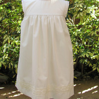Beige Monogram Dress, Monogrammed dresses for infants baby girl, FREE Personalization sz 3M,6M,12M,18M, 2T,3T,4T,5T