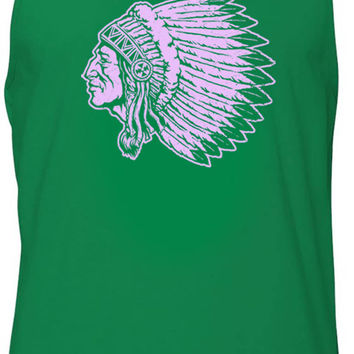 Indian Elder (Pink) Tank-Top T-Shirt